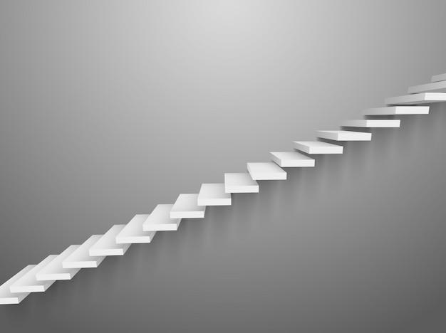 3d 계단 벡터 벽 사다리입니다. 추상 벽 계단 인테리어 디자인 단계 요소 성공입니다.