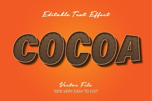 3d сильный жирный шоколадный текстовый эффект