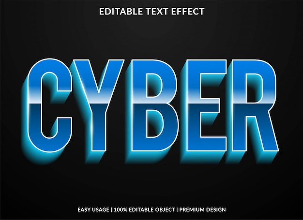 3d strong bold text effect