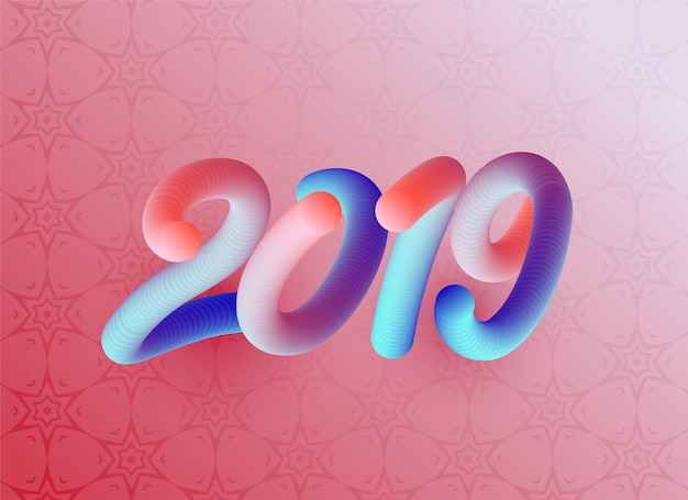 3d style 2019 colorful background