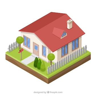 3d style house Free Vector
