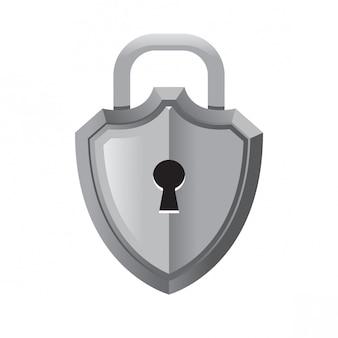 3d styled lock shield