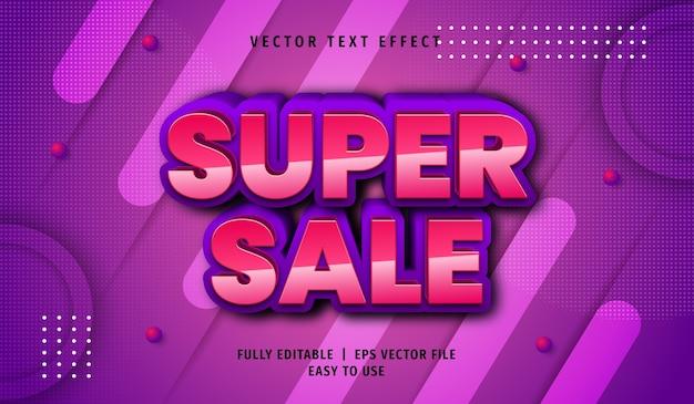 3d super sale text effect, editable text style