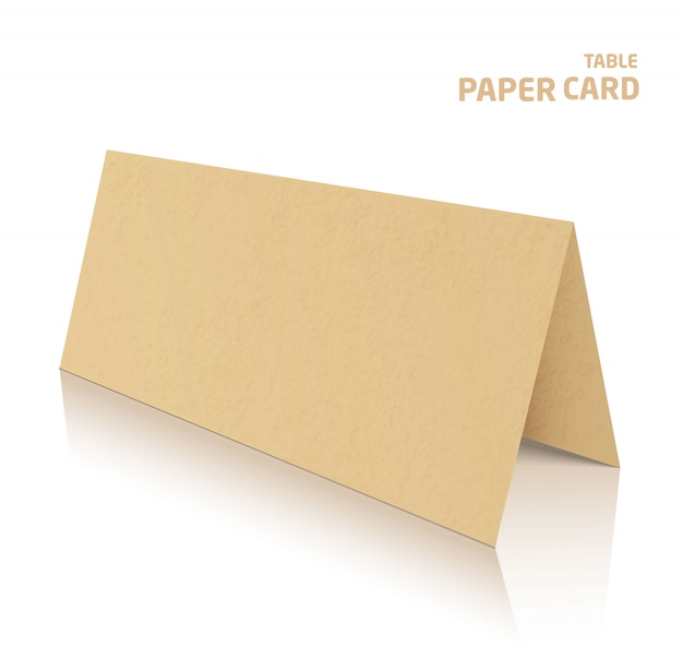 3d table papercraft card isolated