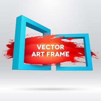 3d template with out of frame brush stroke