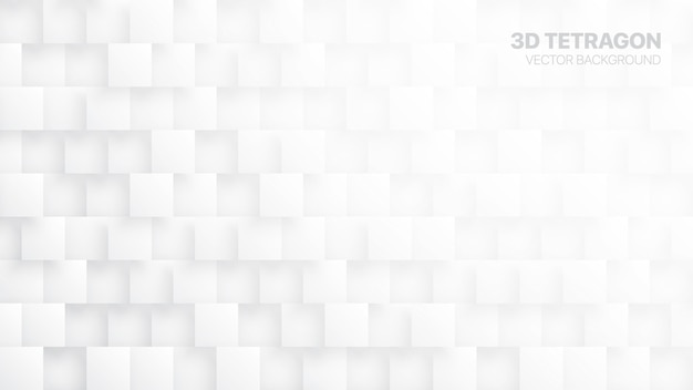 3d tetragons white abstract background