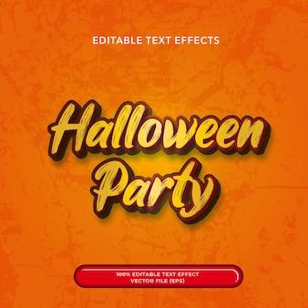 3d text editable halloween party