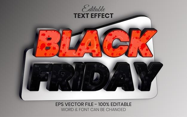 3d текстовый эффект в стиле черной пятницы редактируемый текстовый эффект