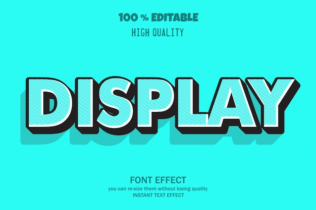 3d text effect  editable font
