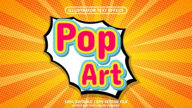 3d text effect pop art comic premium