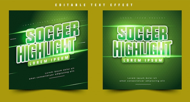 3d text effect sport event header or title, for event poster and banner. easy editable and customize