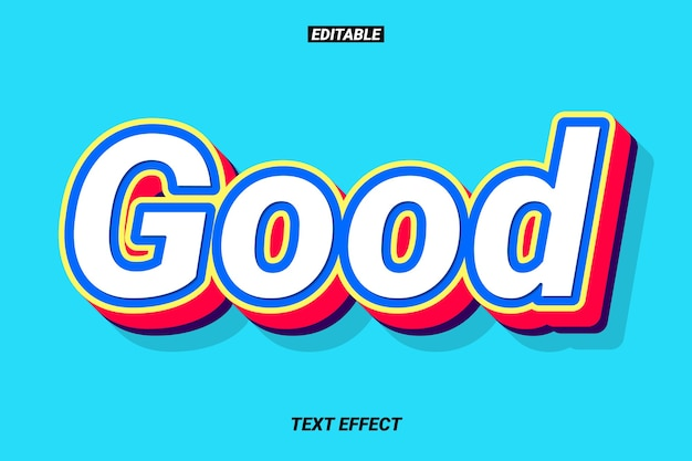 3d text effect with red extrude