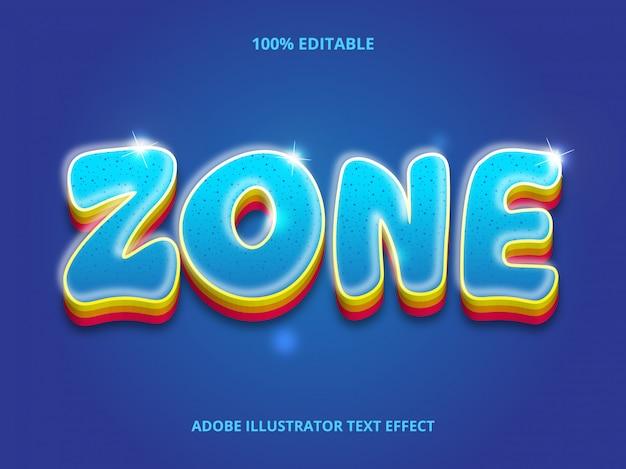 3d text effect - стиль размытия линий