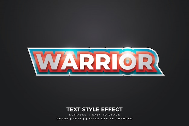 3d text style effect for e sport team identity