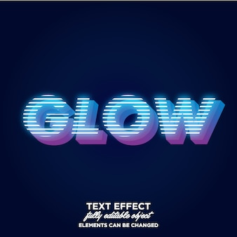 3d text style with electric light theme