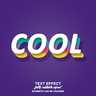 3d text style with shadow in each layer