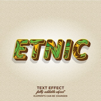 3d text style with tribal pattern