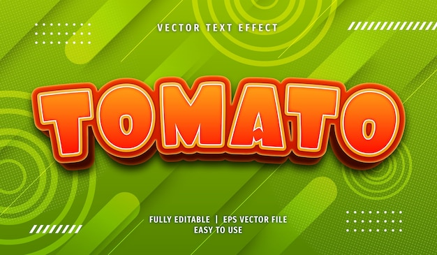 3d tomato text effect, editable text style