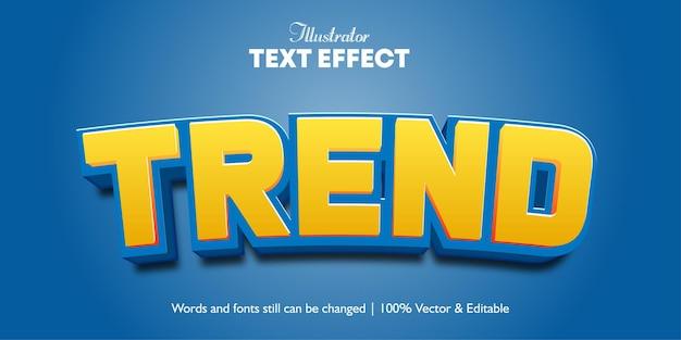Текстовые эффекты 3d trend