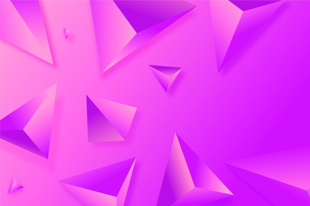3d triangle background in vivid colors