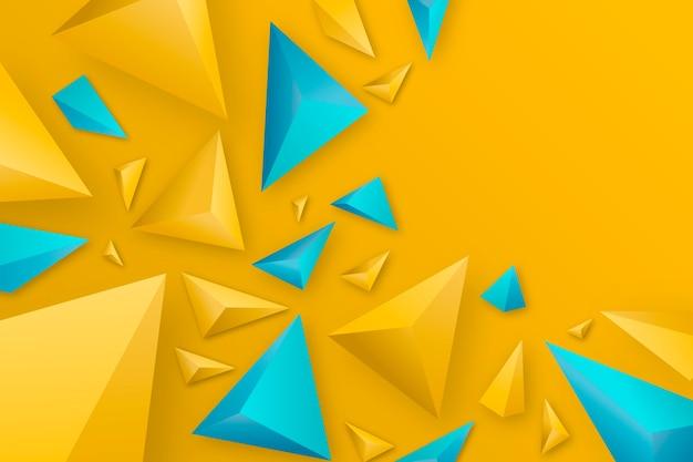 3d треугольник фон с яркими цветами