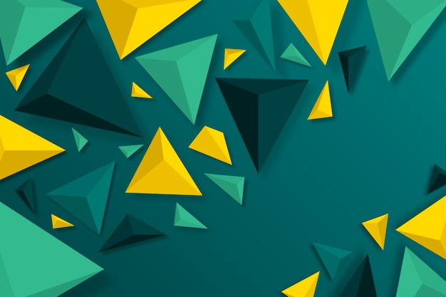 3d triangle background with vivid colors