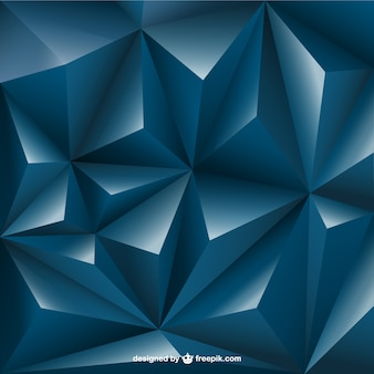3d triangle background Free Vector