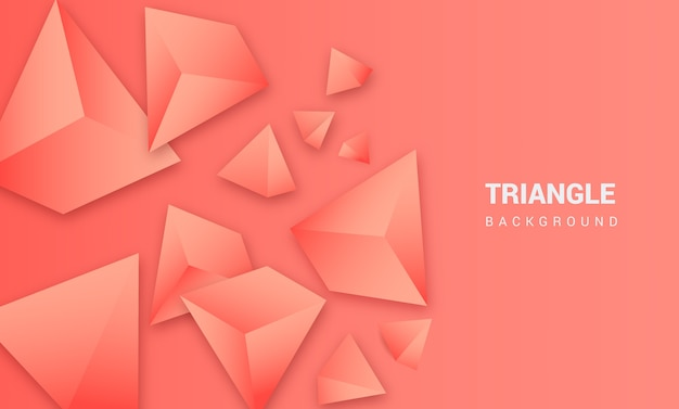 3d triangle pink background