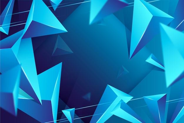 Carta da parati triangolo 3d con colori vivaci