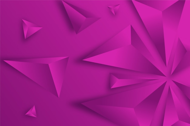 3d triangles concept for wallpapers
