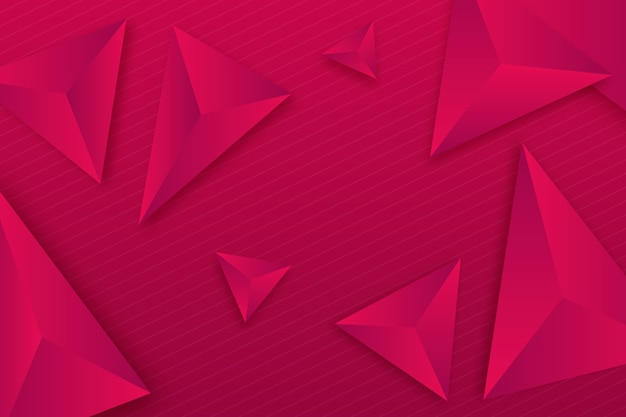 3d triangles style for background