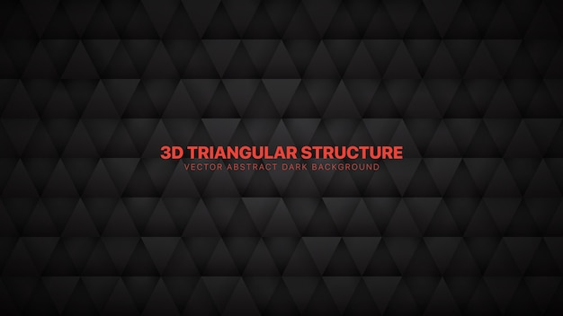3d triangles technological dark gray abstract background