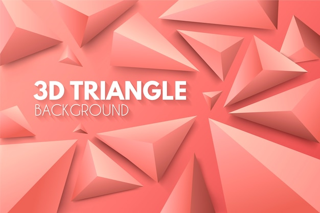 3d triangles in vivid colors concept for wallpaper