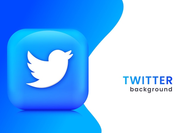 3d twitter background or banner