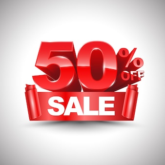 3d vector shiny red discount 50 percent off