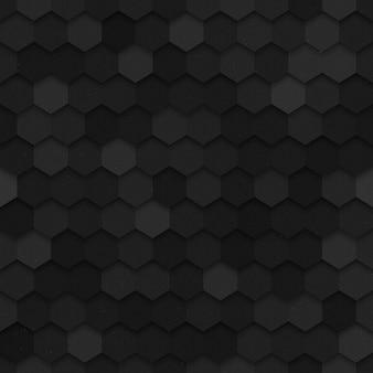 3d vector technology hexagonal seamless pattern
