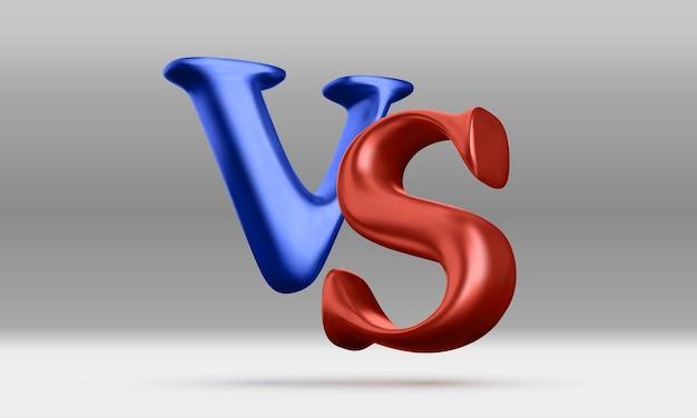 3d versus battle headline. competitions between contestants. vector illustration