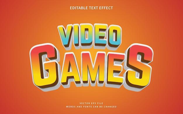 3dビデオゲームのテキストスタイル効果