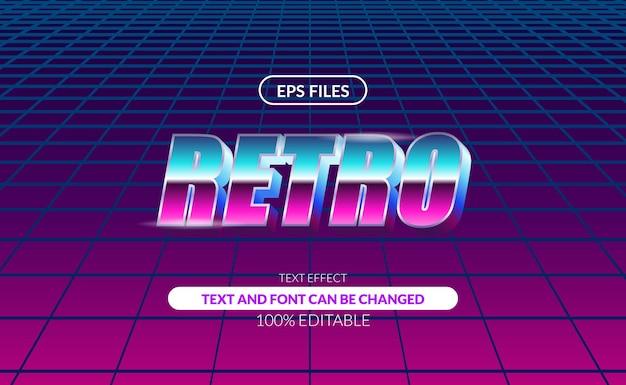 3d vintage 80s retro disco pop night editable text effect.