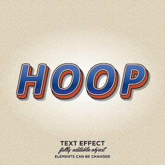 3d vintage text effect