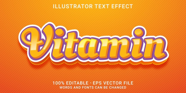 Текстовый эффект 3d vitamin