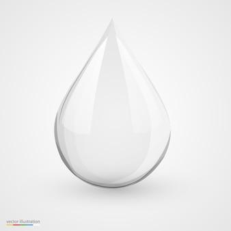 격리 된 흰색에 3d 물 드롭입니다.