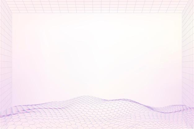 3d wave purple pattern design