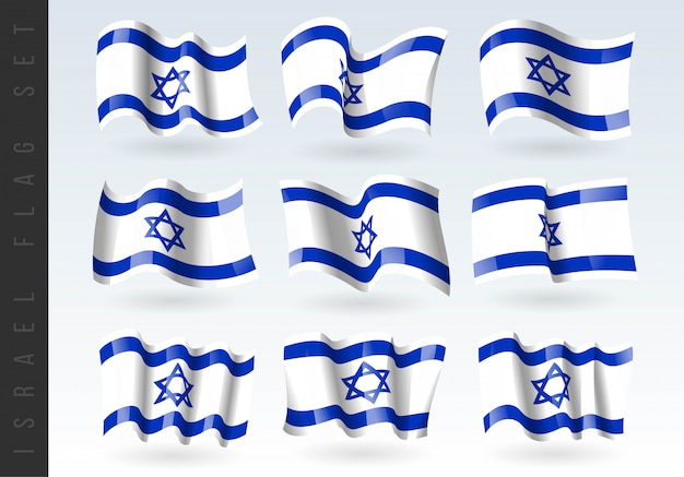 3d waving flag of israel.