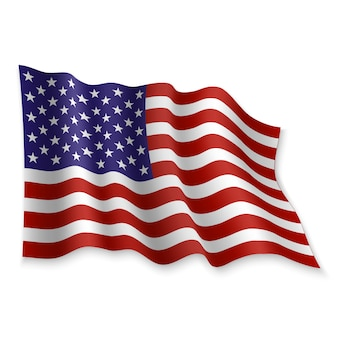 3d waving flag.