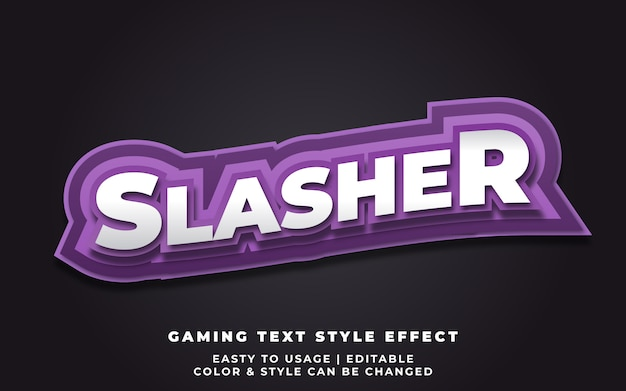 3d wavy text style effect for sticker or team identity