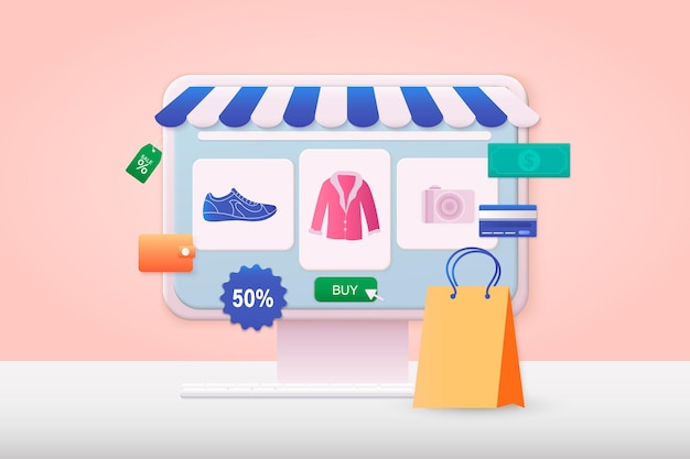 3dウェブイラストオンラインショッピングデザイングラフィック要素サインシンボルモバイルマーケティングとデジタルマーケティング