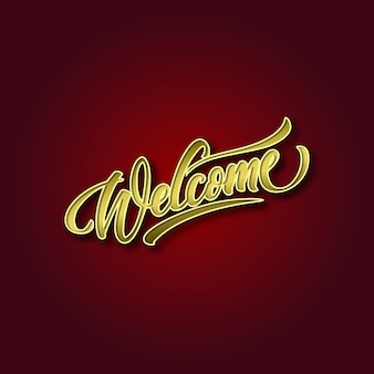 3d welcome text background