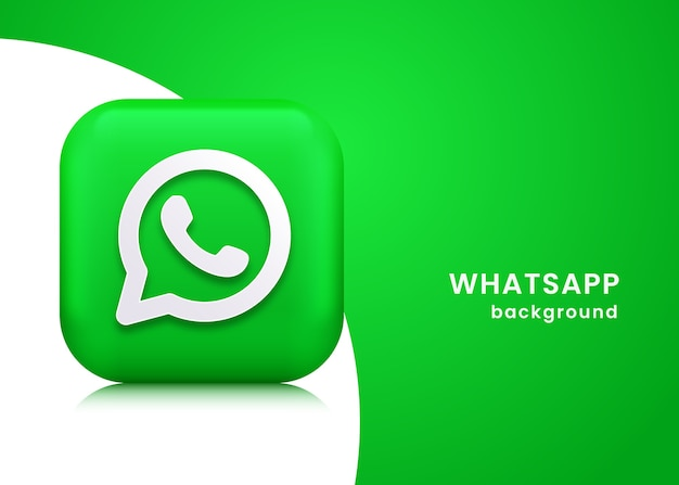 3d whats app background or banner