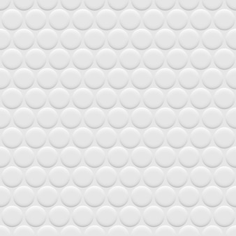 3d white background seamless pattern with circles